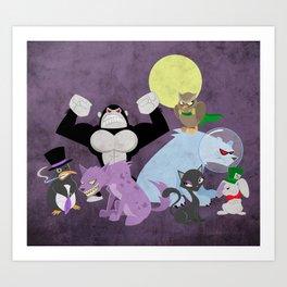 Arkham City Critters Art Print