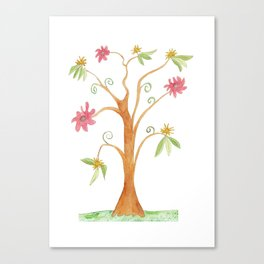 Surrealist tree in bright colors Canvas Print