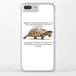 When A Tortoise Embarks On A Journey African Proverb Clear iPhone Case