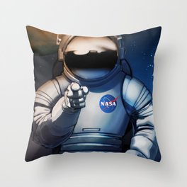 NASA Recruitment Poster /We Need You Throw Pillow