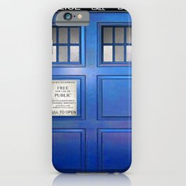 doctor who public box  iPhone Case