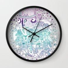 Glam fashion owls Wall Clock