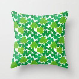 Shamrock Pattern Throw Pillow