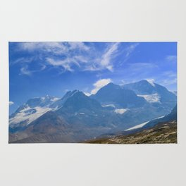 columbia icefield in summer, 2017 Rug