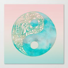 Yin Yang Watercolor Canvas Print