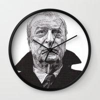 michael scott Wall Clocks featuring Michael by Rik Reimert
