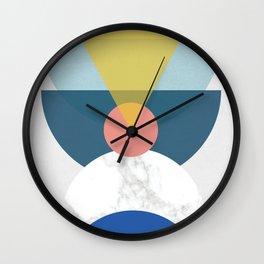 Mid Century half circles Wall Clock