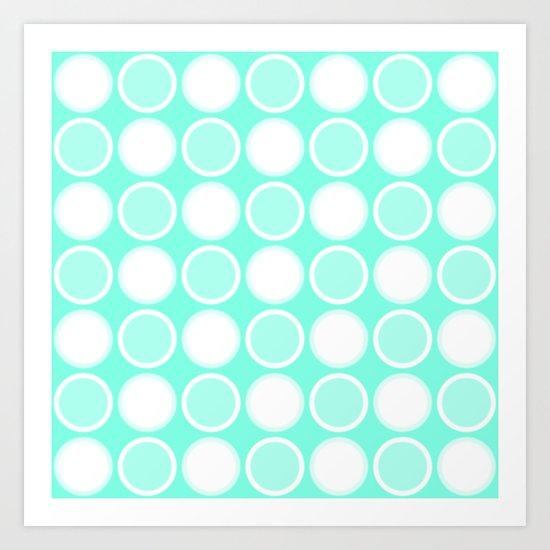 Mint Circles Art Print