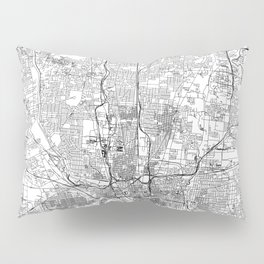 Columbus White Map Pillow Sham