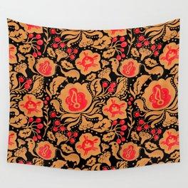 Khokhloma Kulture Pattern Wall Tapestry