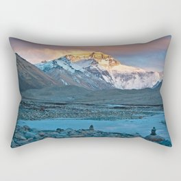 Sunset on Everest Rectangular Pillow