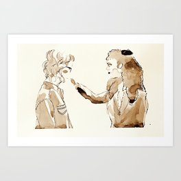 Beyond Time and Space With You and I Art Print