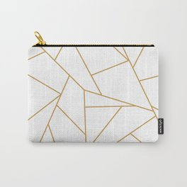 Geometric Gold Hexagon Pattern Carry-All Pouch