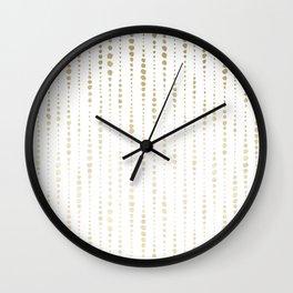 NYC Nights Gold Polka Dot Stripes Wall Clock