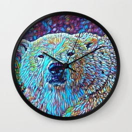 ColorMix Polar Bear Wall Clock