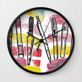 Fueled By Art Supplies Wall Clock