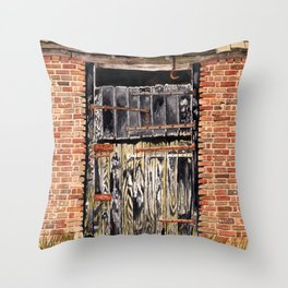 Stable Door Outside Throw Pillow
