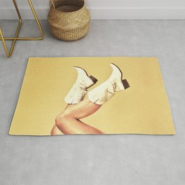 These Boots - Yellow Rug