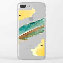 feather and birds Clear iPhone Case