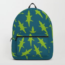 Crocodiles Alligators Reptiles Sunning Pattern Backpack