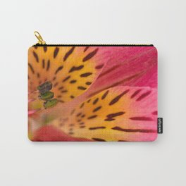 Peruvian Lily Macro Carry-All Pouch
