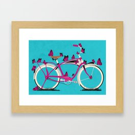Butterfly Bicycle Framed Art Print
