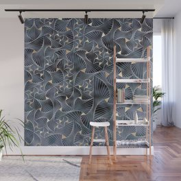 Reverie (in Grey and Gold) Wall Mural