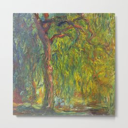"Claude Monet ""Weeping Willow"" Metal Print"