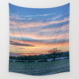 Sunset & Snow Wall Tapestry