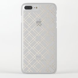 Simply Mod Diamond White Gold Sands on White Clear iPhone Case