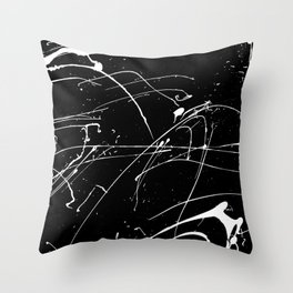 MONOCHROME SPLATTER #2 Throw Pillow