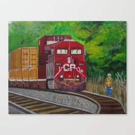 CP Train and Worke Canvas Print