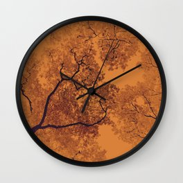 Trees Map XI Wall Clock