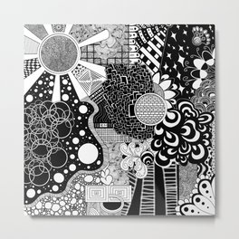 Zentangle 8 Metal Print