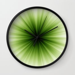 Green and White Sunburst Abstract Wall Clock