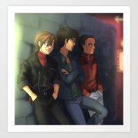 gundam Art Prints featuring Gundam Boys by Puck