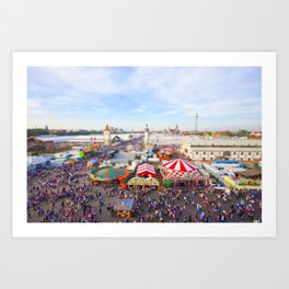 Oktoberfest from Above Art Print