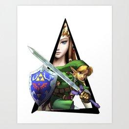 Youtriangle ∆ Zelda Art Print