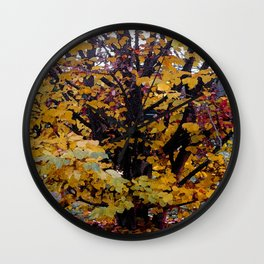 Paintography Of Autumn Wall Clock