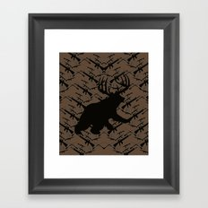 Bear with Buck Horns Framed Art Print