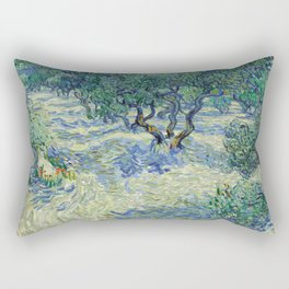 Olive Orchard by Vincent van Gogh Rectangular Pillow