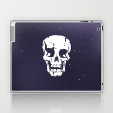 Cracked Up Skull in Space Laptop & iPad Skin