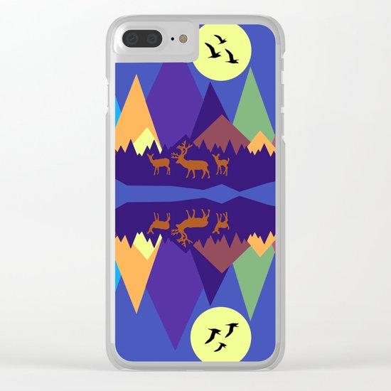 Mountain Scene #3 Clear iPhone Case
