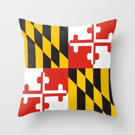 maryland state state flag united states of america country Throw Pillow