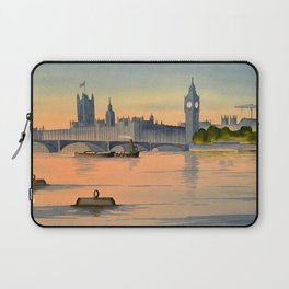 Westminster And Big Ben From The River Thames London Laptop Sleeve