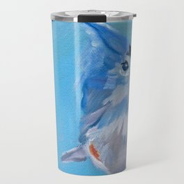 Little Blue Birdie Travel Mug