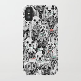 just dogs coral mint iPhone Case