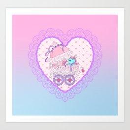 g1 my little pony baby buggy Art Print