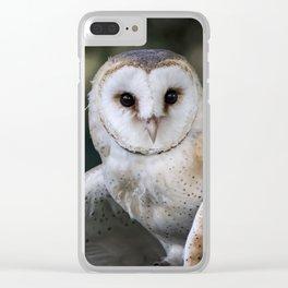 Common Barn Owl portrait. Clear iPhone Case