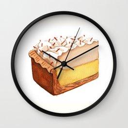 Coconut Cream Pie Slice Wall Clock